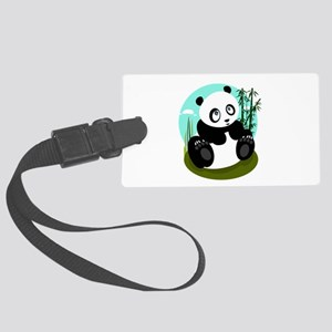 Baby Panda Large Luggage Tag