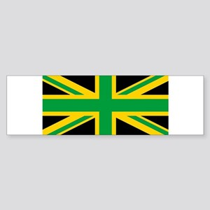 British - Jamaican Union Jack Bumper Sticker