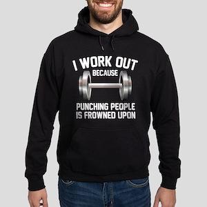 I Work Out Hoodie (dark)