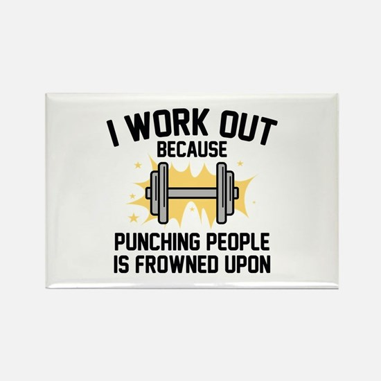 I Work Out Rectangle Magnet
