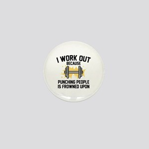 I Work Out Mini Button