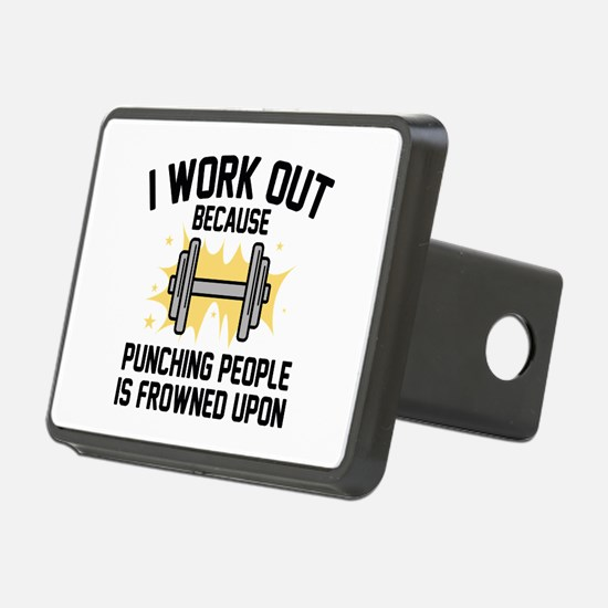 I Work Out Hitch Cover