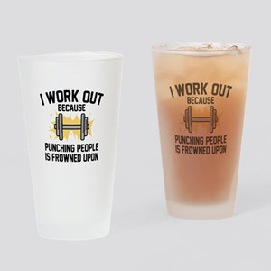 I Work Out Drinking Glass