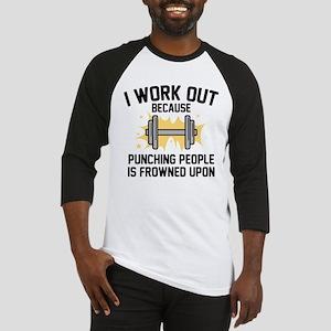I Work Out Baseball Jersey