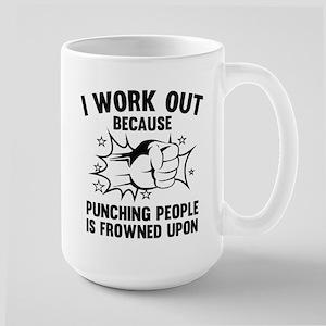 I Work Out Large Mug