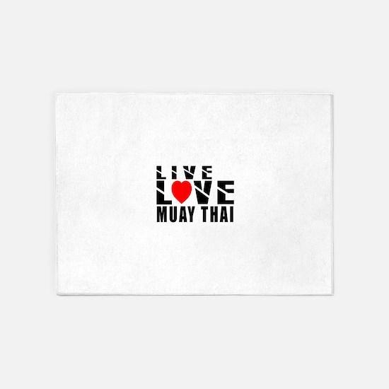 Live Love Muay Thai Martial Arts 5'x7'Area Rug