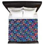 Colored Glass King Duvet
