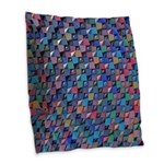 Colored Glass Burlap Throw Pillow