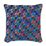 Colored Glass Woven Throw Pillow