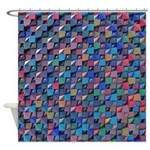 Colored Glass Shower Curtain
