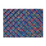 Colored Glass 5'x7'Area Rug