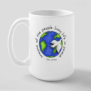 Imagine - World - Live in Peace Large Mug