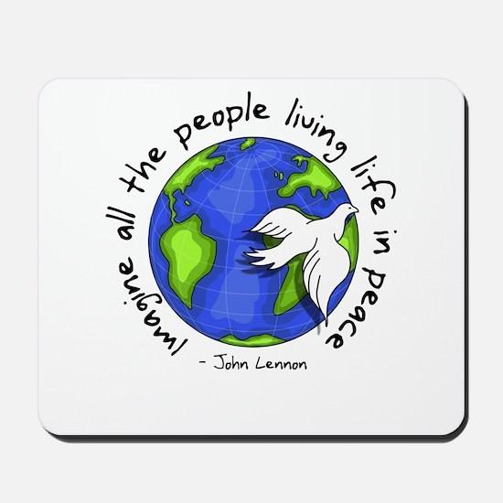 Imagine - World - Live in Peace Mousepad