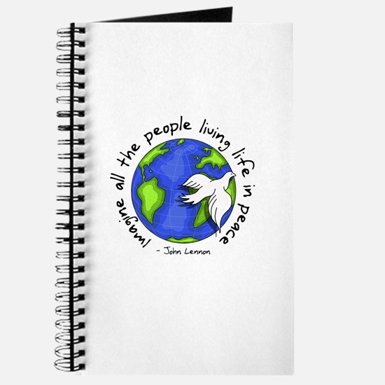 Imagine - World - Live in Peace Journal