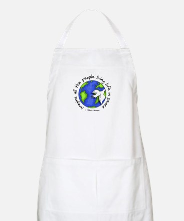 Imagine - World - Live in Peace BBQ Apron