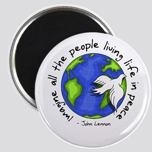 Imagine - World - Live in Peace Magnet