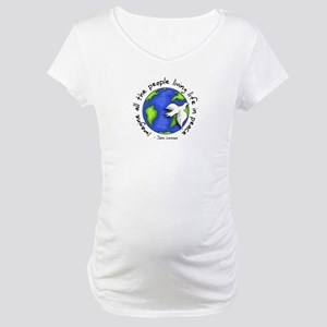 Imagine - World - Live in Peace Maternity T-Shirt