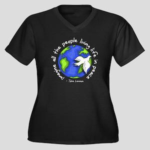 Imagine - World - Live in Peace Women's Plus Size