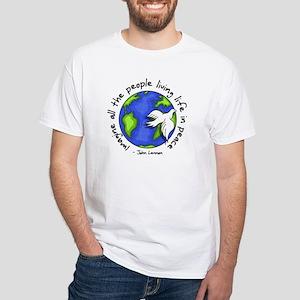Imagine - World - Live in Peace White T-Shirt
