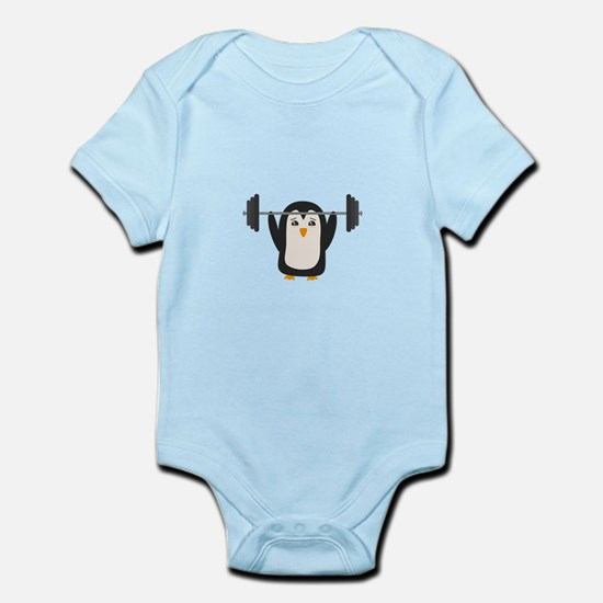 Penguin Weightlifting Body Suit
