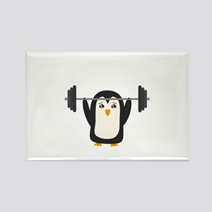 Penguin Weightlifting Magnets