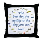 Best Dog For Agility Throw Pillow