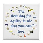 Best Dog For Agility Tile Coaster