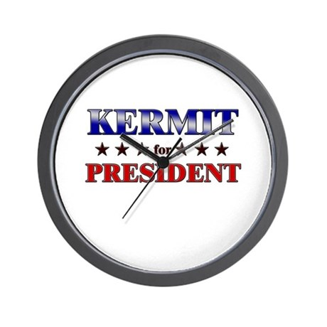 KERMIT for president Wall Clock