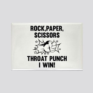 Throat Punch I Win Rectangle Magnet