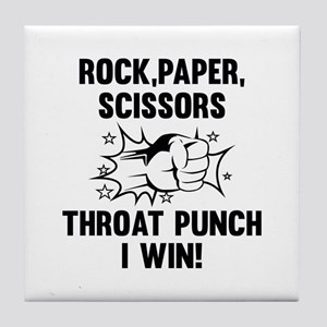 Throat Punch I Win Tile Coaster