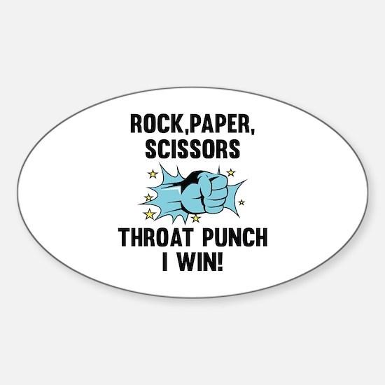 Throat Punch I Win Sticker (Oval)