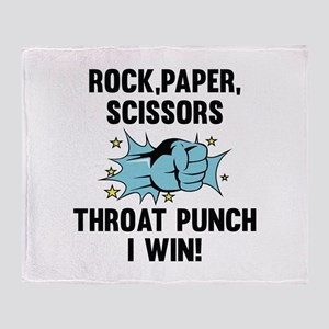 Throat Punch I Win Stadium Blanket
