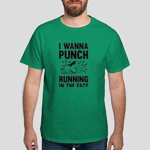 I Wanna Punch Running Dark T-Shirt