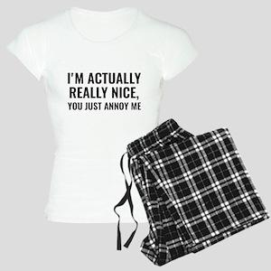 I'm Actually Really Nice Women's Light Pajamas