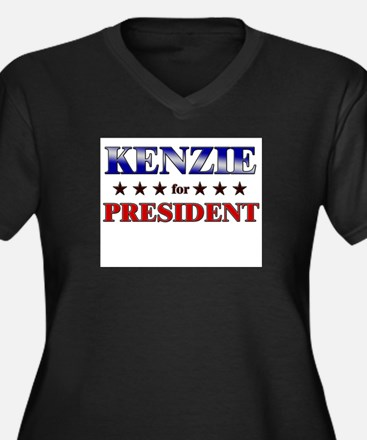 KENZIE for president Women's Plus Size V-Neck Dark