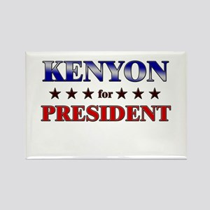 KENYON for president Rectangle Magnet