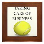 tennis joke Framed Tile