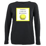 tennis joke Plus Size Long Sleeve Tee
