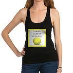 tennis joke Racerback Tank Top