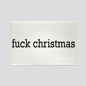fuck christmas Rectangle Magnet
