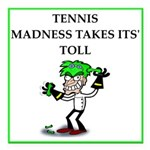 tennis joke Square Car Magnet 3