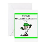 tennis joke Greeting Cards