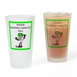 tennis joke Drinking Glass