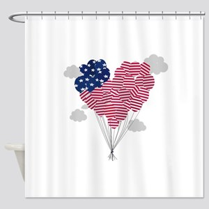 Balloons USA Shower Curtain