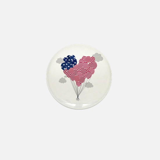 Balloons USA Mini Button