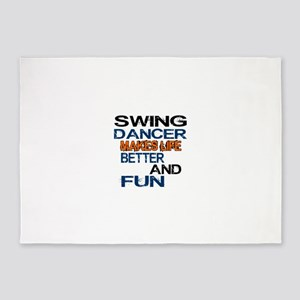 Swing Dancer Makes Life Better And 5'x7'Area Rug