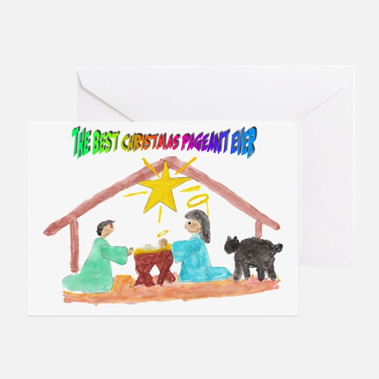 Christmas Pageant Manger Greeting Card