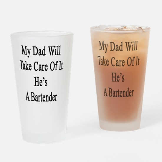 Bartender dad Drinking Glass