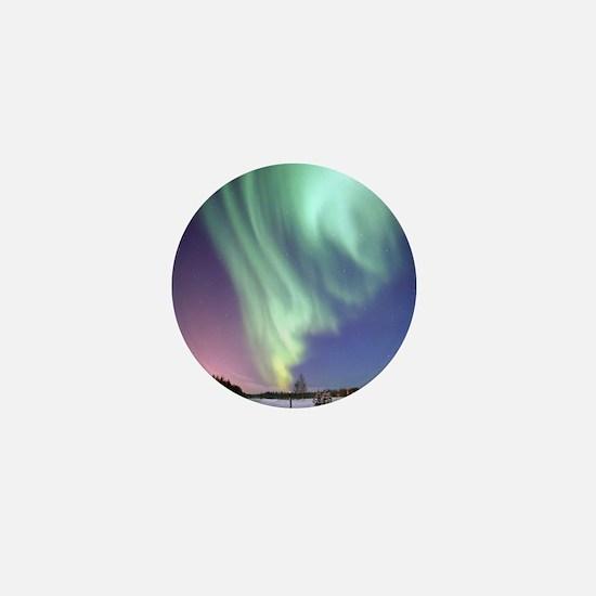 Cute Aurora borealis Mini Button