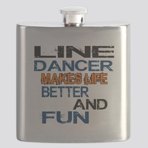 Line Dancer Makes Life Better And Fun Flask